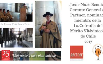 Jean-Marc Besnier nominado por la Cofradía del Mérito Vitivinicola de Chile